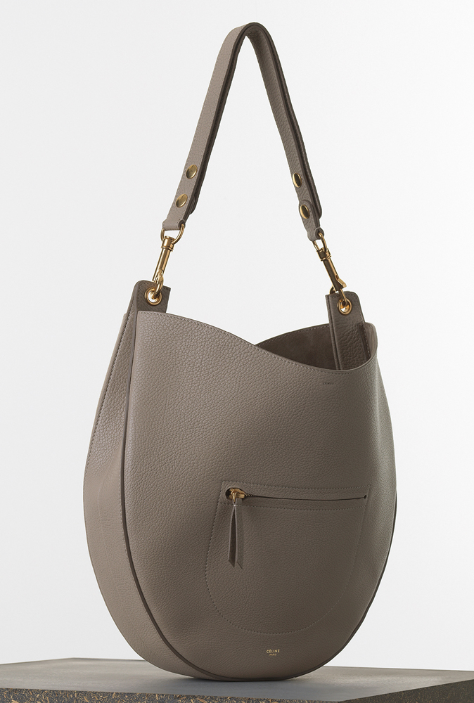 Celine Medium Zip Hobo Crisped Calfskin 2600