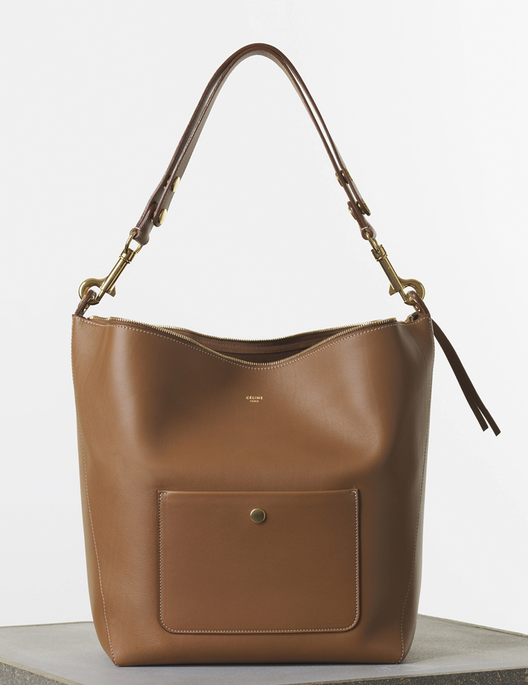 Celine medium Zipped Hobo Bag Tanned Natural Calf 2550