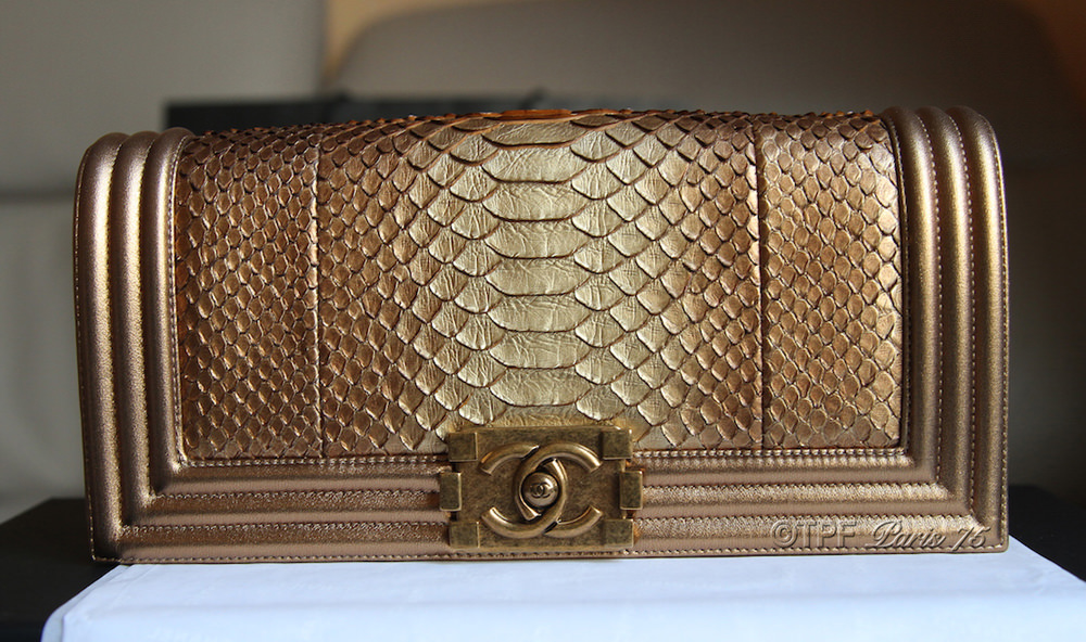 Chanel Boy Bag Python