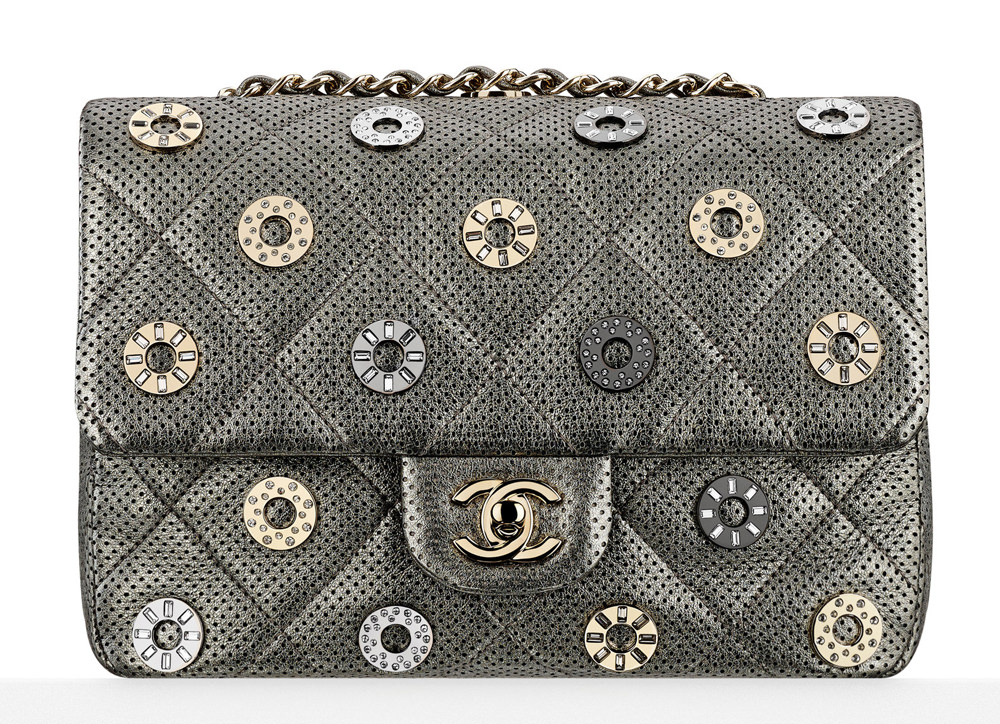 Chanel Eyelet Perforated Small Flap Bag 4800