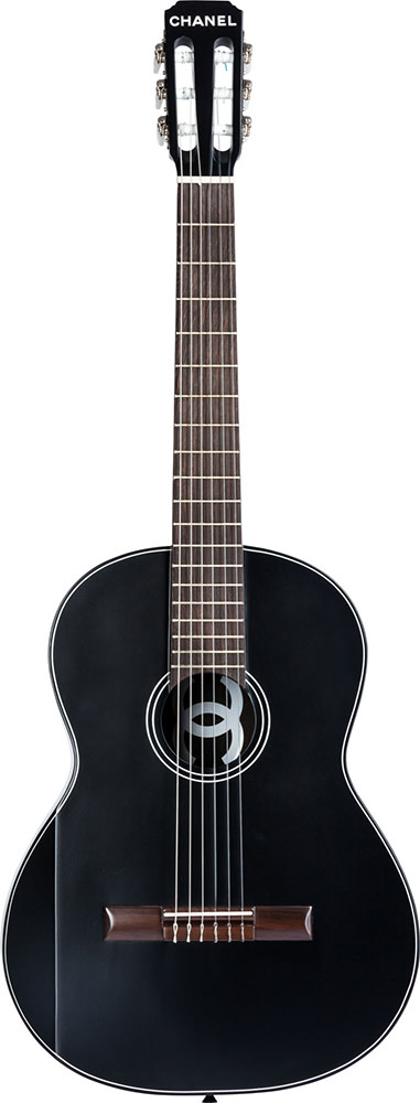 Chanel Limited Edition Black Redwood & Tea Wood Classical Acoustic Guitar