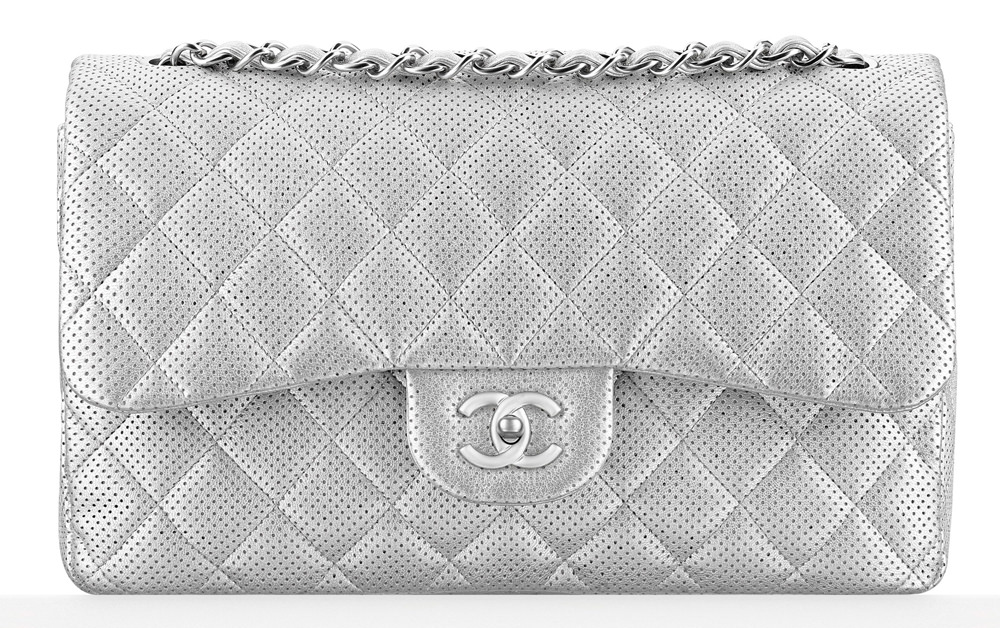 Chanel Perforated Classic Flap Bag 5500