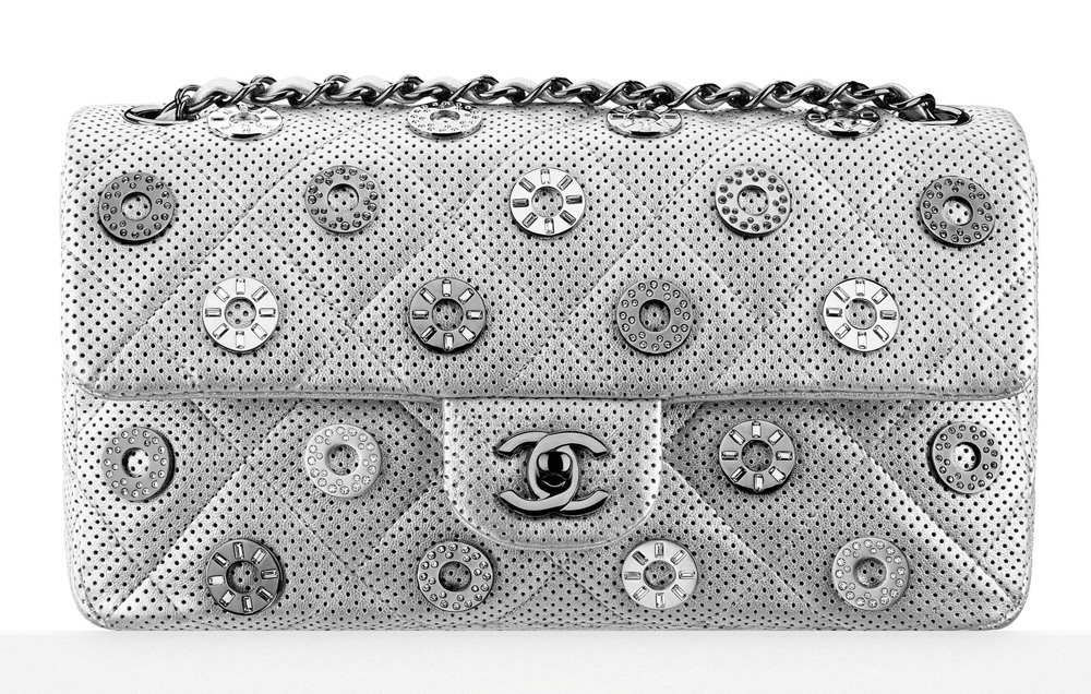 Chanel Perforated Eyelet Flap Bag 5600