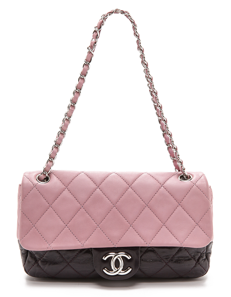 Chanel Two Tone Half Flap Bag