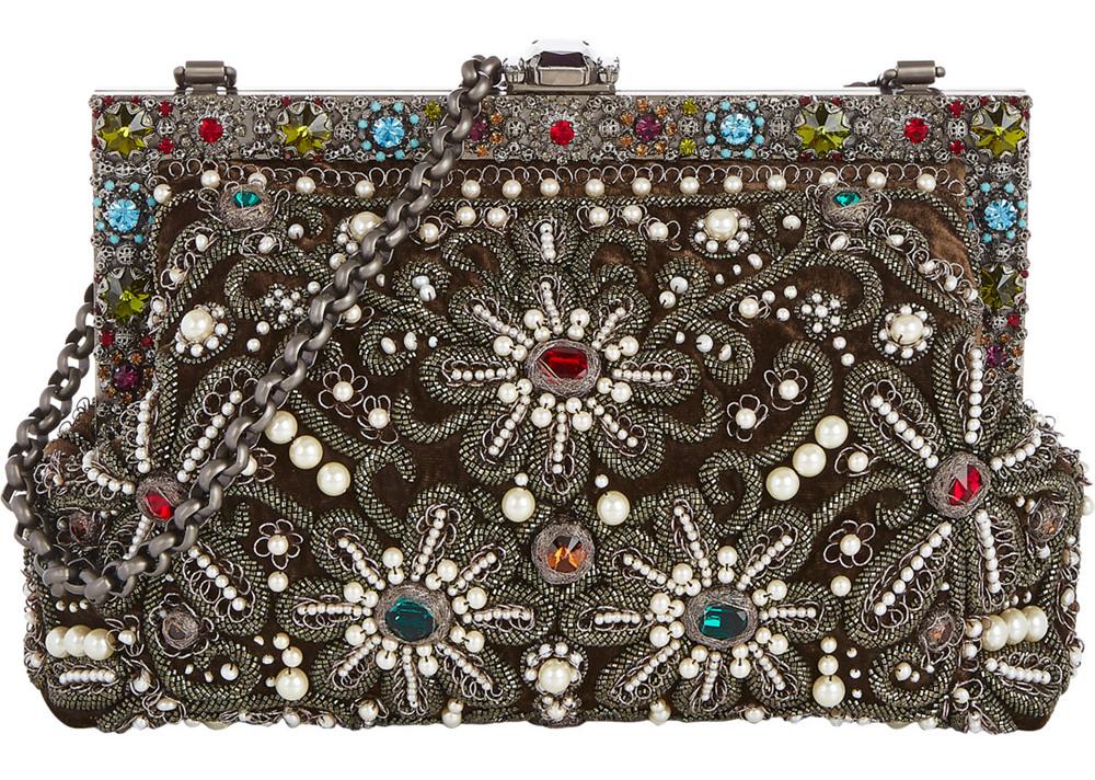 Dolce & Gabbana Crystal-Embellished Vanda Clutch