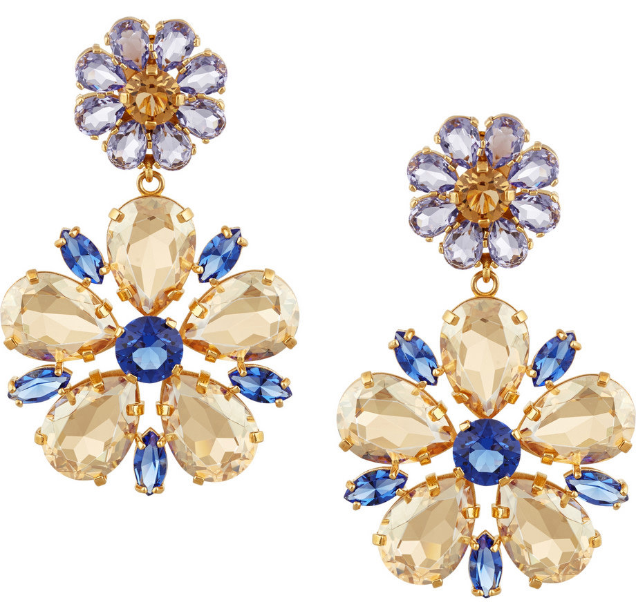 Dolce & Gabbana Fiori Swarovski Clip Earrings