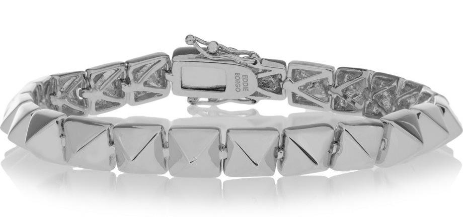 Eddie Borgo Silver-Plated Pyramid Bracelet