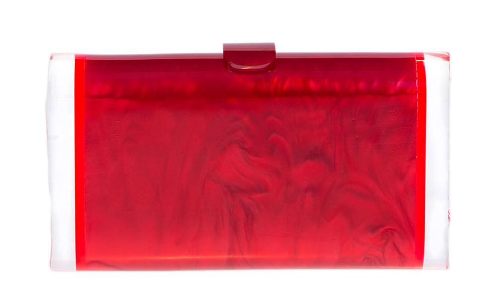 Edie Parker Lara Acrylic Ice Clutch