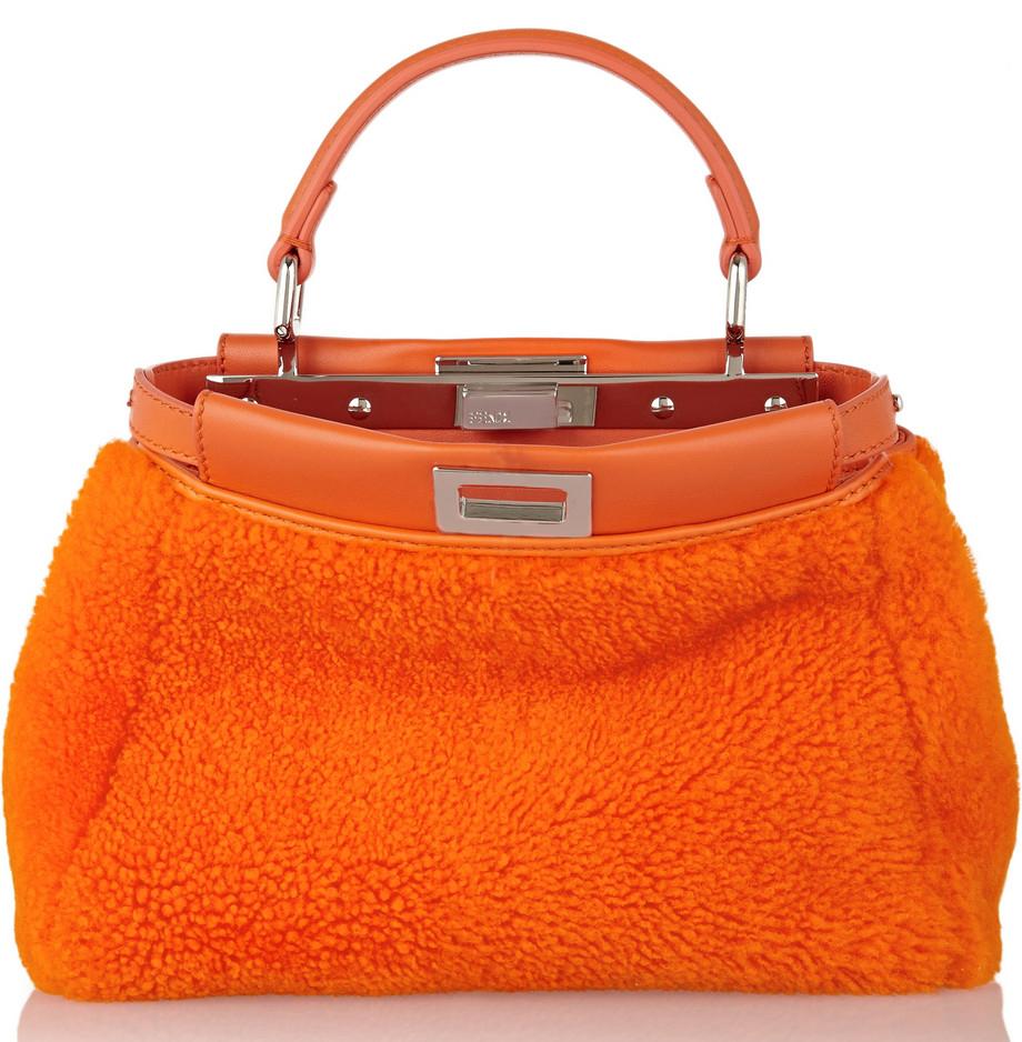 Fendi Shearling Small Peekaboo Bag