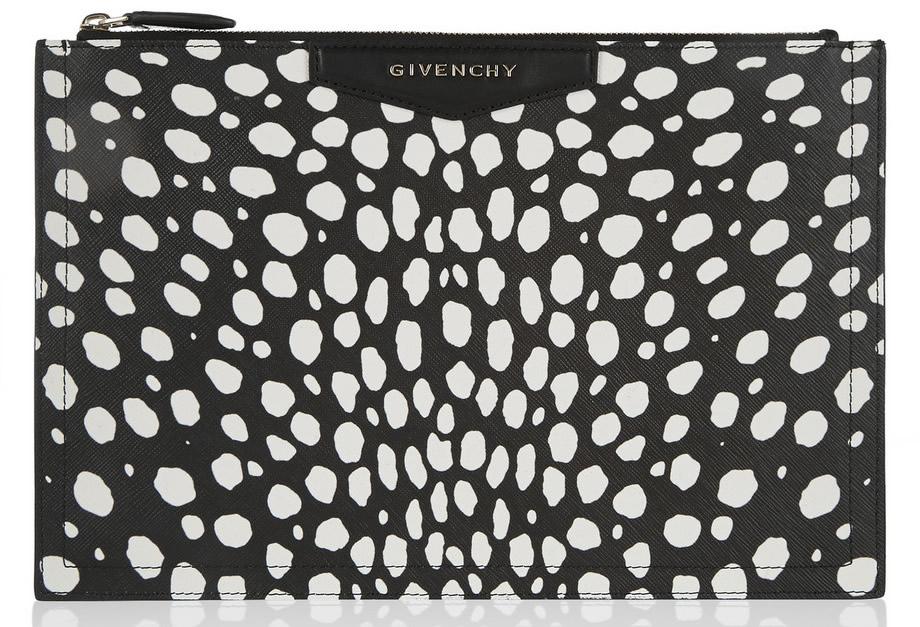 Givenchy Antigona Pouch Black and White