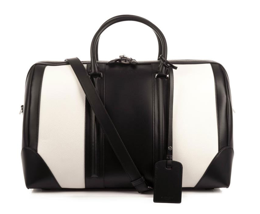 Givenchy Bicolor Leather Weekender Bag