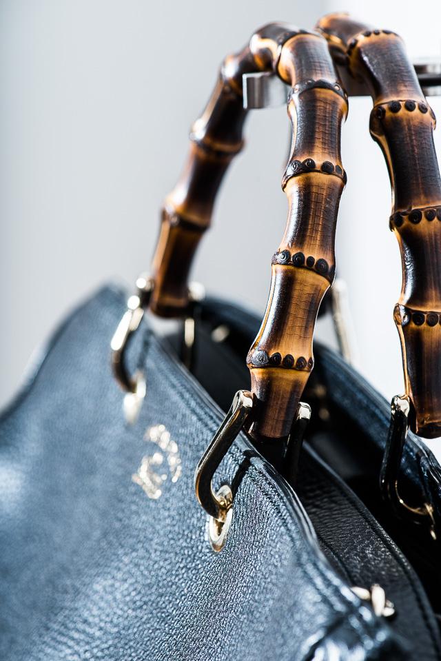 Gucci Bamboo Shopper Tote Detail