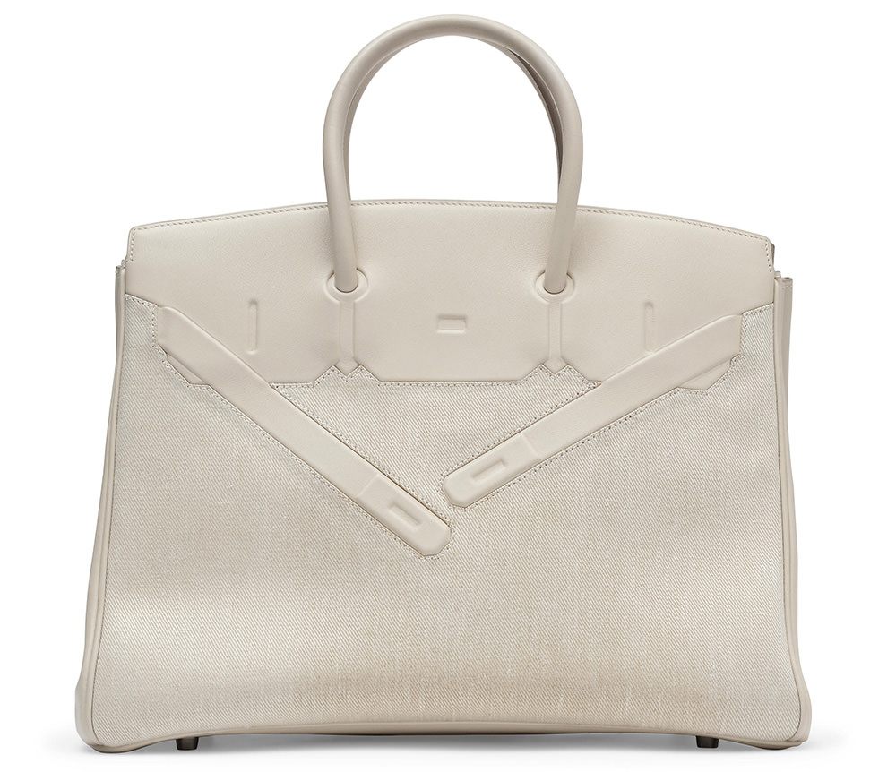 Hermes Limited Edition 35cm Shadow Birkin Bag