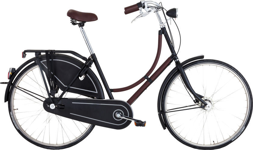 Hermes Limited Edition Carbon Fiber & Havane Clemence Leather Three Speed Batavus Bicycle