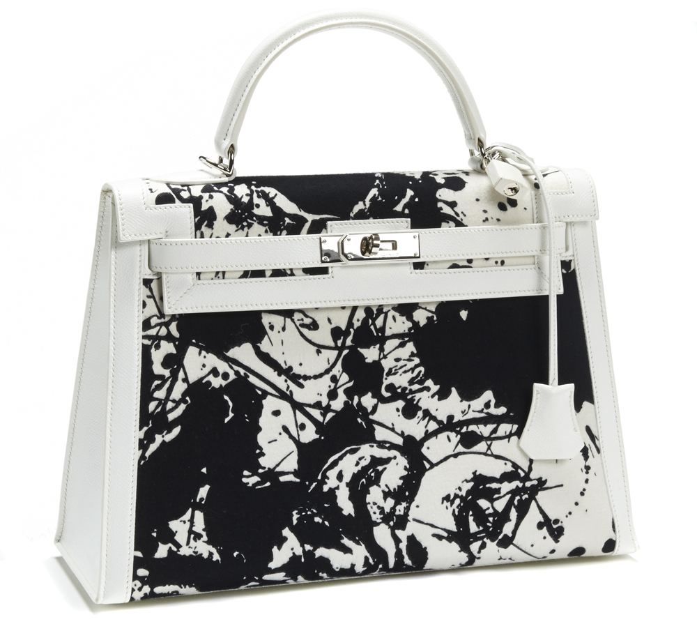 Hermes Splatter Print Kelly Bag