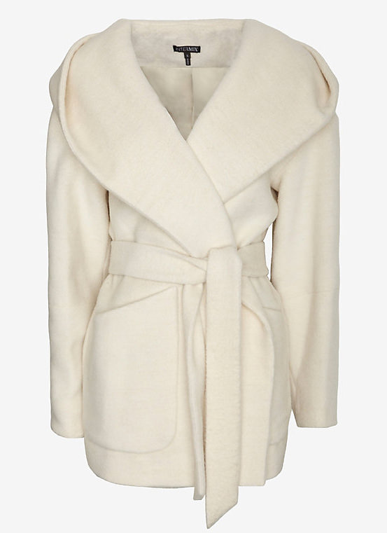 Intermix Exclusive Cocoon Hooded Coat