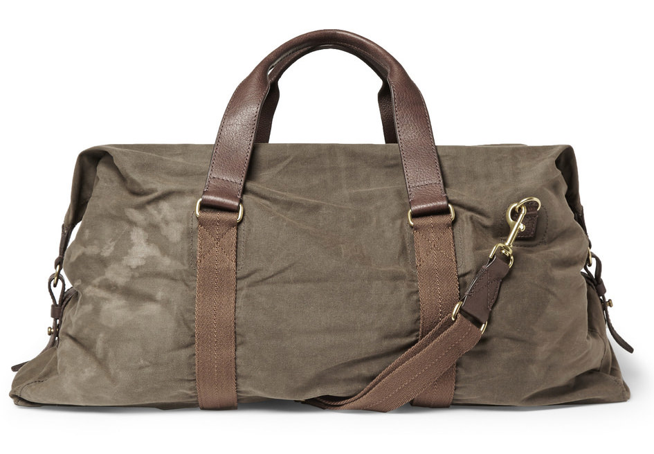 J.Crew Abingdon Waxed Cotton-Canvas Holdall Bag