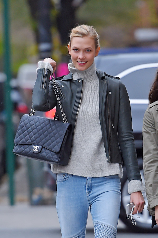Karlie Kloss Chanel Maxi Classic Flap Bag-1