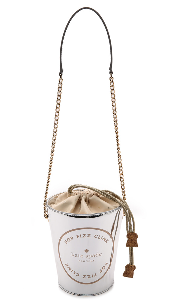 Kate Spade Place Your Bets Champagne Bucket Tote