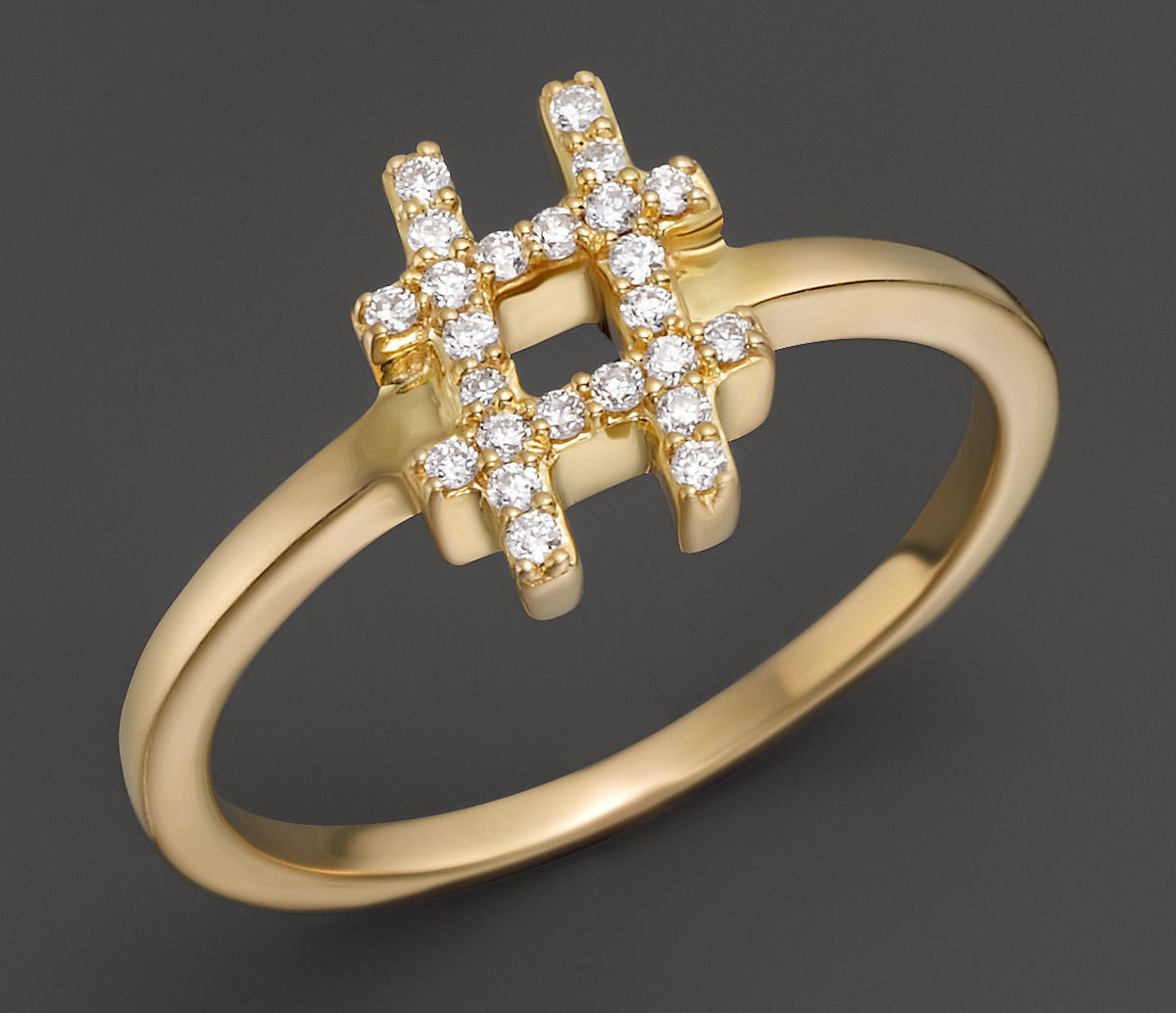 Khai Diamond Hashtag Ring