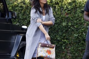 Kim Kardashian Debuts Hermès Bag Painted by Baby North