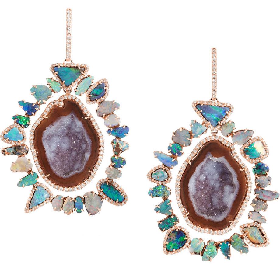 Kimberly McDonald 18k Multistone Rose Gold Earrings