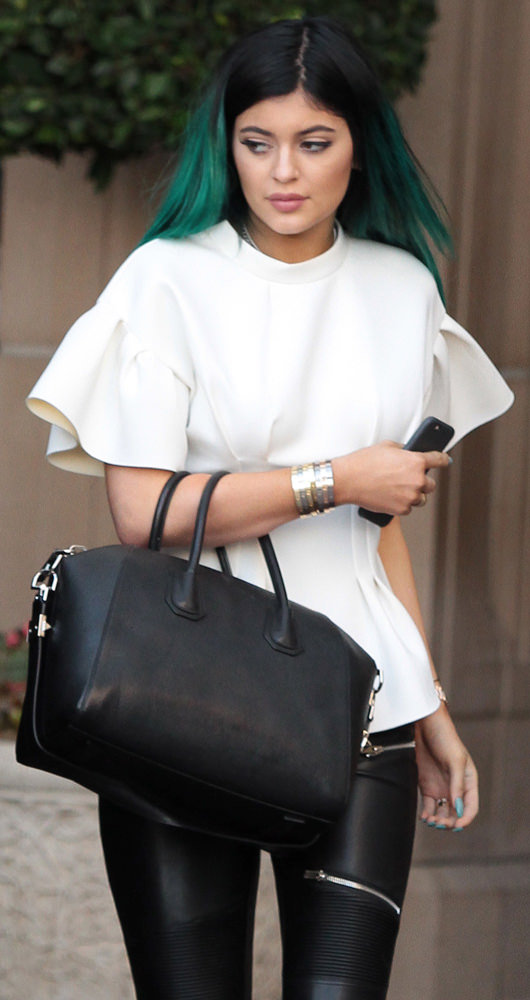 Kylie Jenner leaves his sister Kourtney Kardashians baby shower at the  Montage Hotel in Beverly Hills d26aed1a95