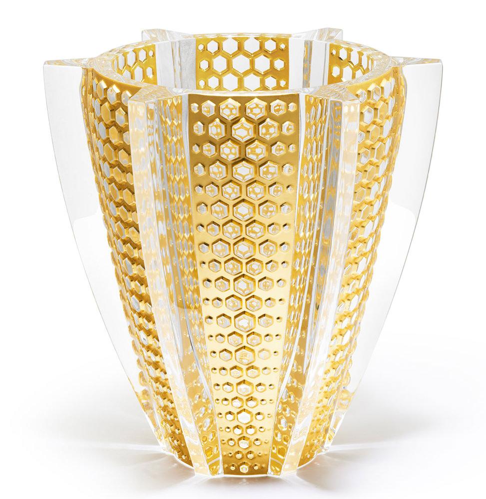 Lalique Gold Leaf Rayons Vase