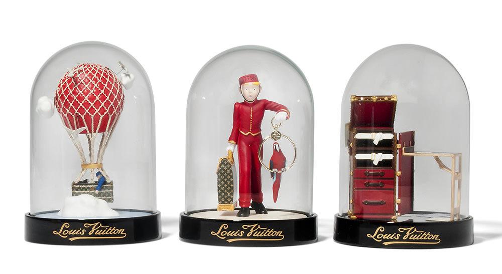 Louis Vuitton Limited Edition Snow Globe Trio