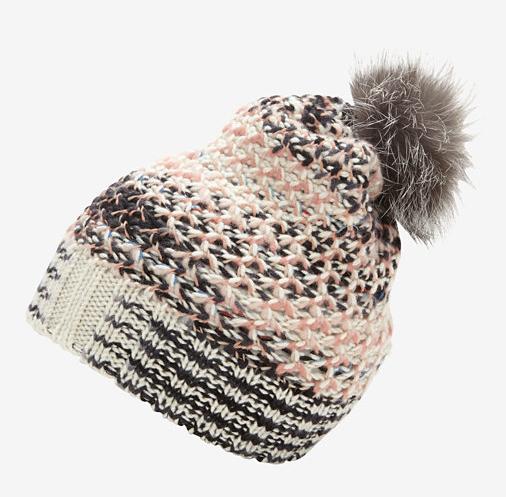 Missoni Fur Pom Pom Knit Hat