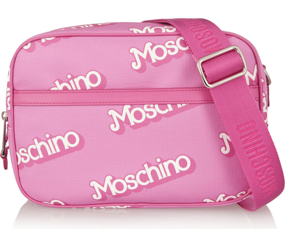 Moschino Logo Pvc Shoulder Bag