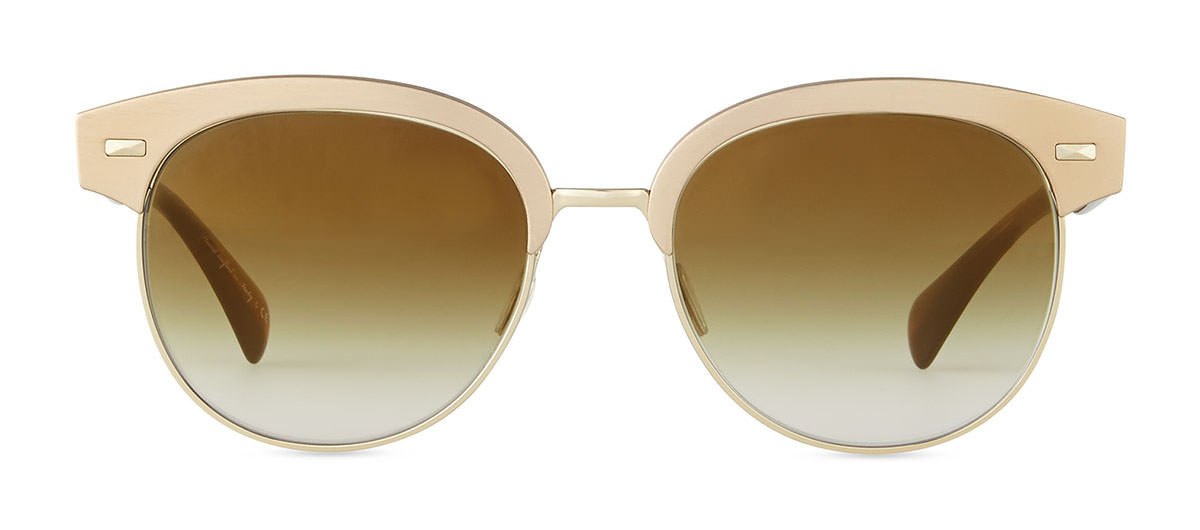 Oliver Peoples Shaelie Mirrored Semi-Rimless Sunglasses