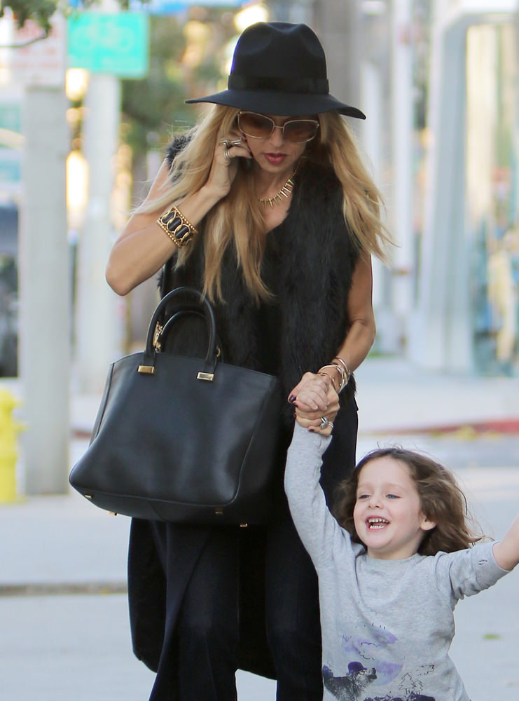 Rachel Zoe seen out and about with her son in Beverly Hills, CA