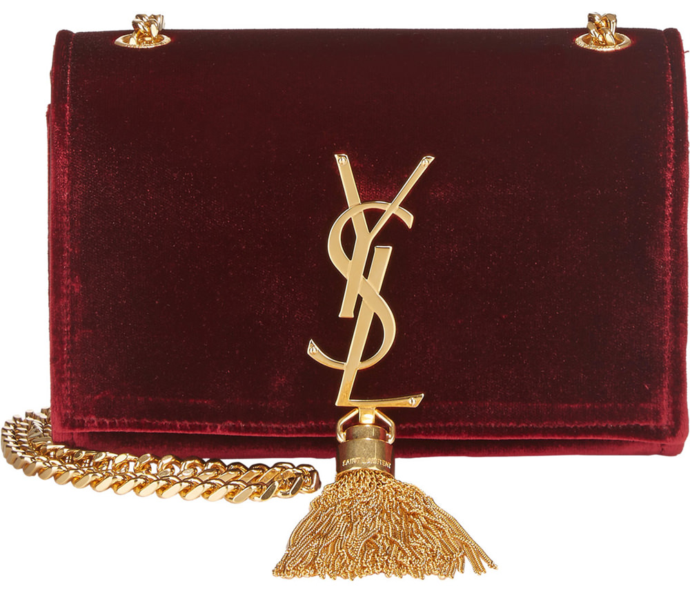 Saint Laurent Small Velvet Monogramme Shoulder Bag