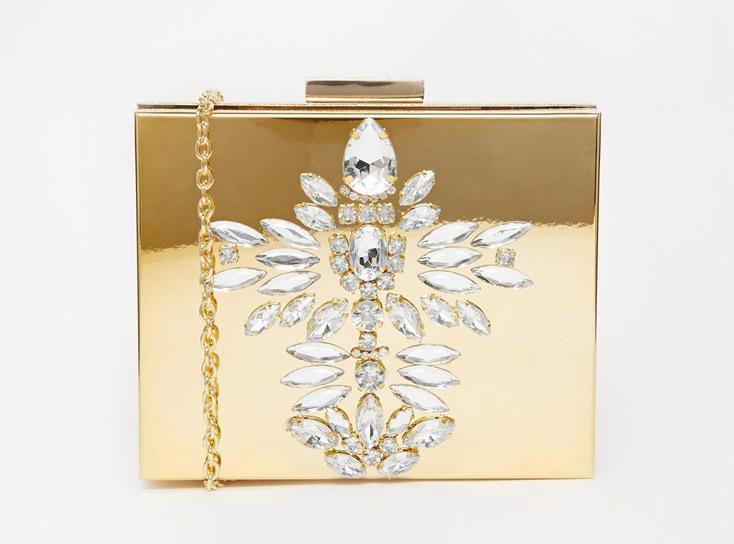 Skinnydip Gold Embellished Clutch