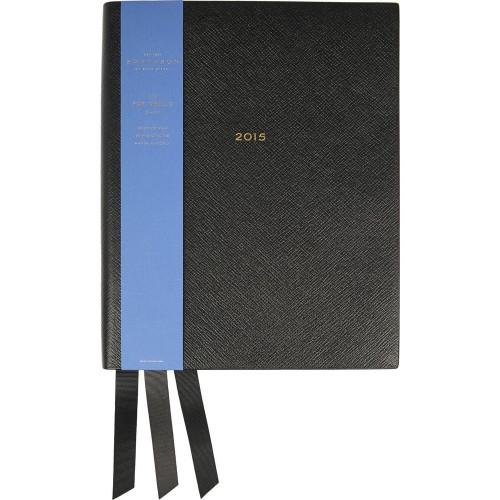 Smythson Portobello 2015 Textured-leather Diary
