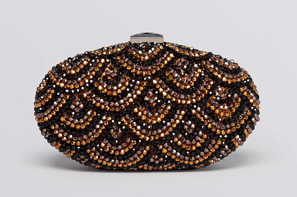Sondra Roberts Oval Bead Box Clutch