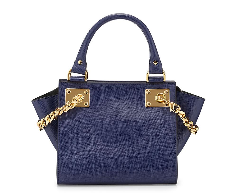 Sophie Hulme Mini Chain Leather Shopper