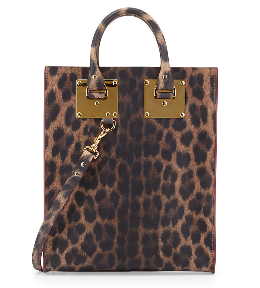 Sophie Hulme Mini Leather Tote Bag