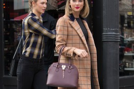 Taylor Swift and Karlie Kloss go shopping and out to eat at ABC Carpet and Sephora in NYC.