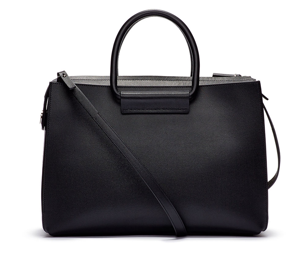 The Row Satchel 12 Bag Black