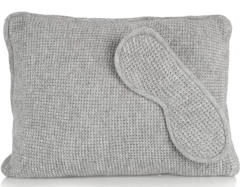 Theory Waffle-knit Cashmere Pillow and Eye Mask Set