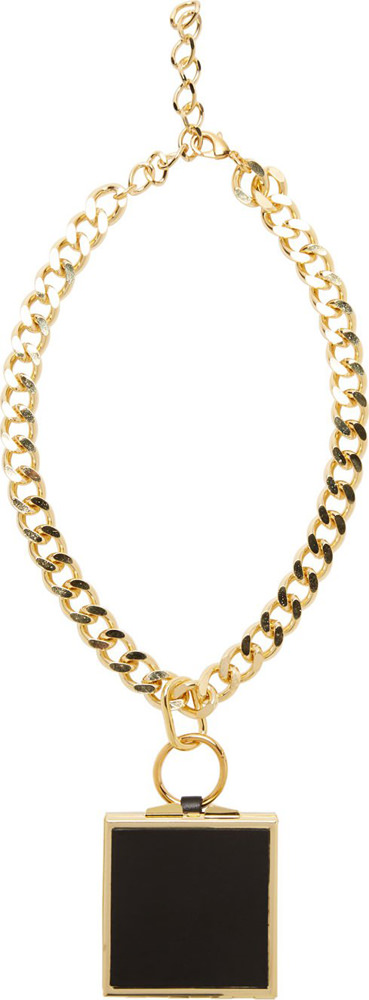 Toga Gold Compacy Pendant Necklace