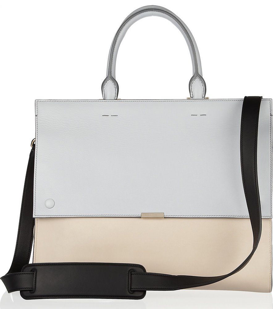 Victoria Bekcham Two-Tone Leather Tote