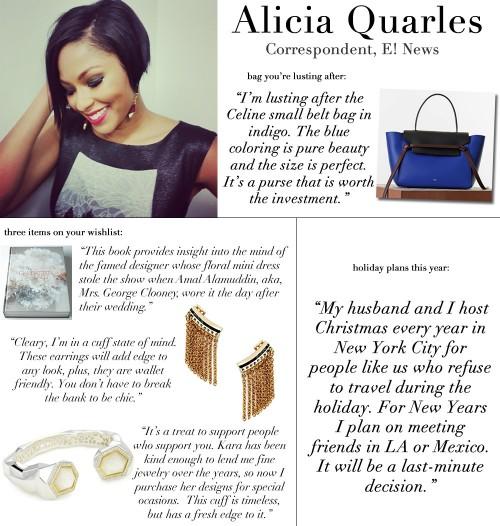 Alicia Quarles Holiday WishList