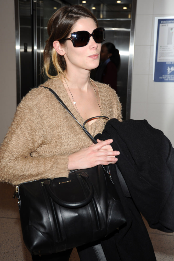 Ashley Greene and boyfriend Paul Khoury at LAX