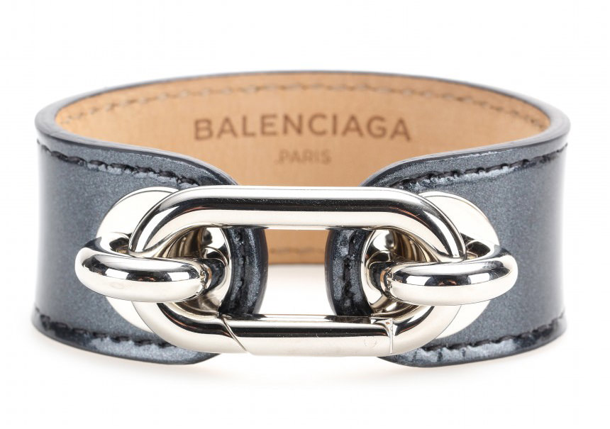 Balenciaga Maillon Leather Bracelet