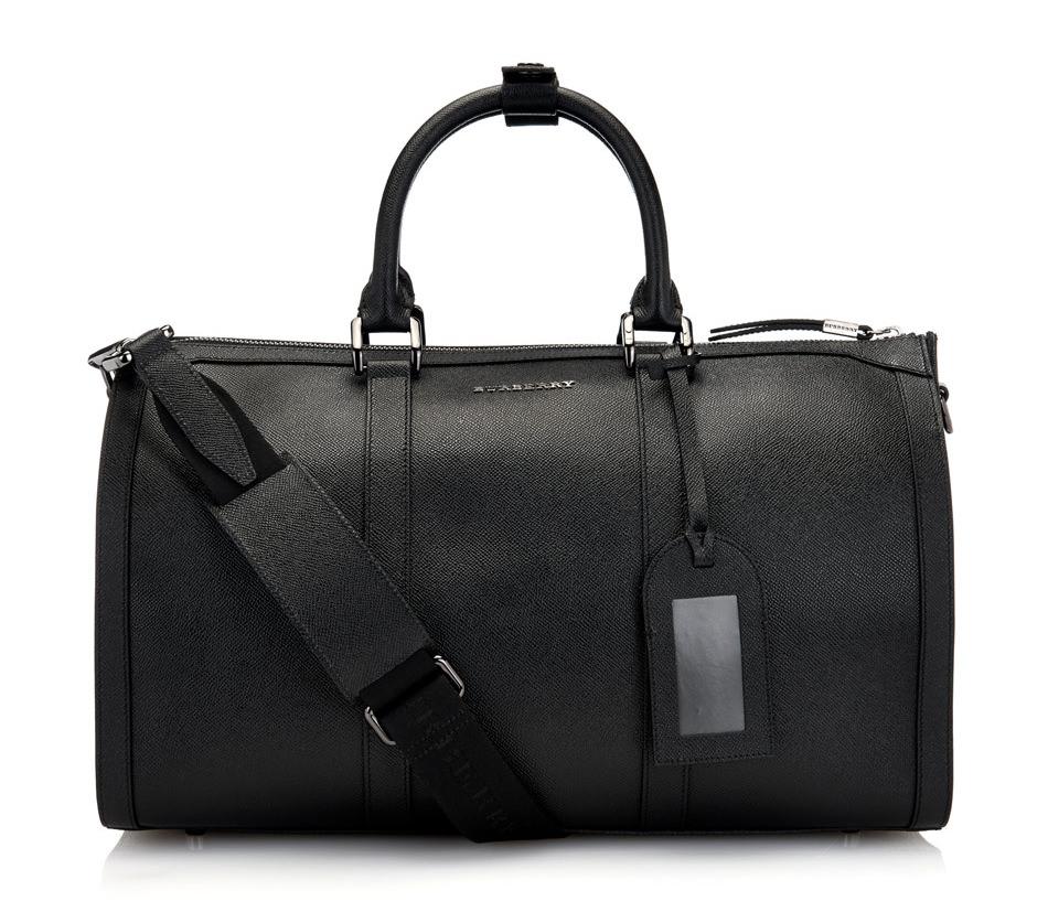 Burberry Leather Weekender Bag