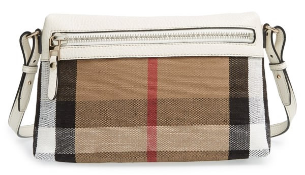 Burberry Small Farley Check Leather Crossbody Bag