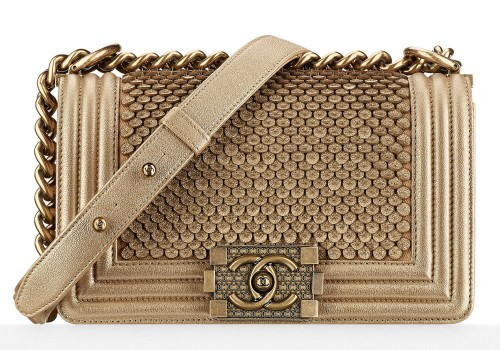 Chanel Boy Bag Gold